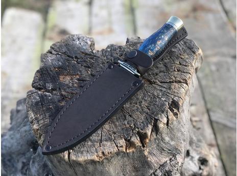 Нож Варвар (дамаск, рукоять стабилизированная карельская береза)