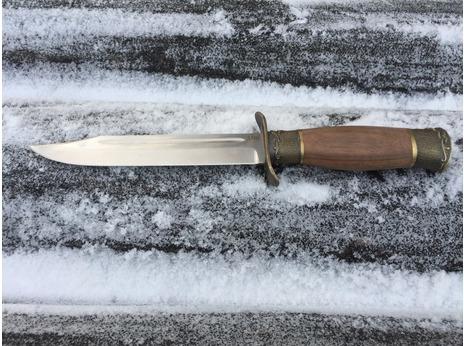 Нож Разведчика (сталь S390, рукоять орех)