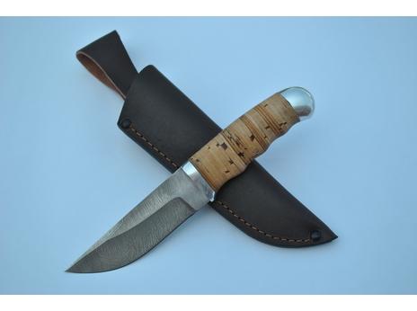 Нож Егерь (дамаск, рукоять береста)