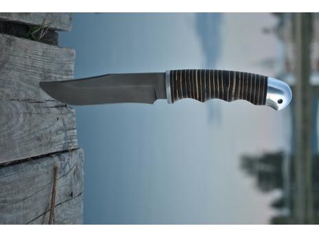 Нож Коршун (сталь Х12МФ, рукоять кожа, береста)