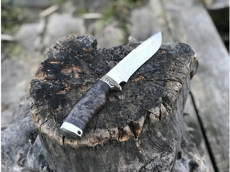 Нож Гепард (сталь Х12МФ, рукоять стабилизированная карельская береза)