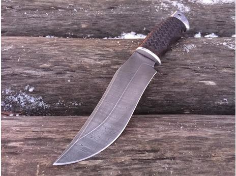 Нож Бухарский(дамаск, рукоять граб)