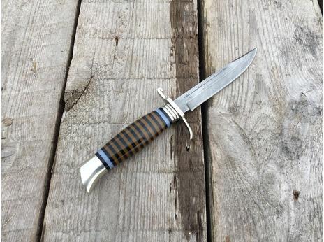 Нож Норвежский  (дамасская сталь, рукоять оргстекло)