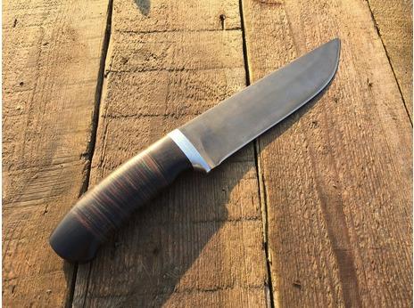 Нож Егерь Большой (Х12МФ, рукоять граб, кожа)