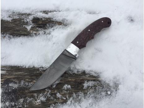 Нож Егерь  (сталь Х12МФ, рукоять стабилизированная карельская береза)