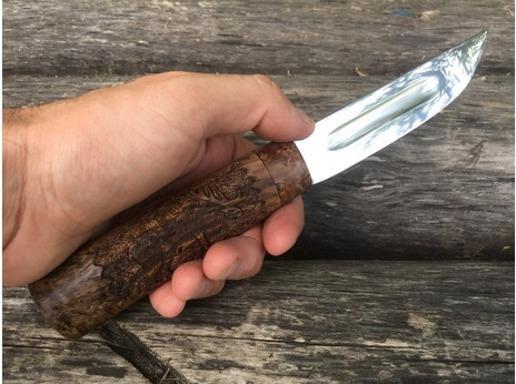 Нож Якутский (сталь х12мф, рукоять стабилизированная карельская береза)