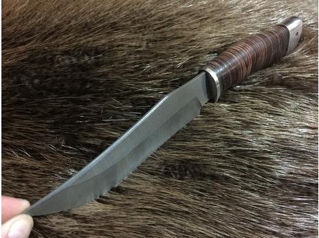 Нож Бухарский (дамаск, рукоять кожа)