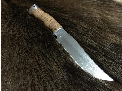 Нож Бухарский(дамаск, рукоять береста)