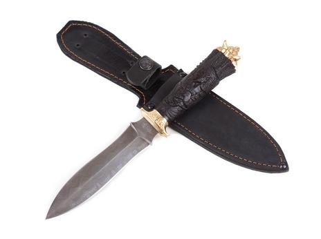 Нож Ведьмак (дамаск, рукоять черное дерево)