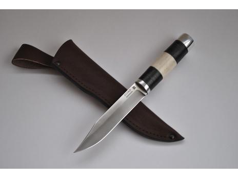 Нож Щука (сталь Х12МФ, рукоять кожа, рог)