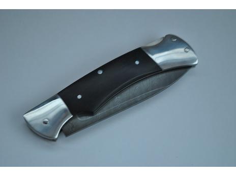 Складной нож 2 (сталь  дамаск, граб)