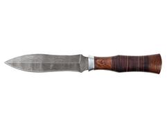 Нож Варвар (дамаск, рукоять кожа, венге)