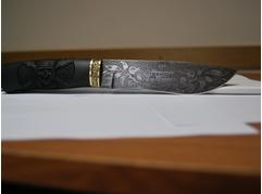 Нож Пират (дамаск, рукоять черное дерево)