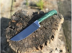Нож Бахарман (сталь 95Х18, рукоять стабилизированная карельская береза)