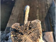 Нож Егерь  (сталь Х12МФ, рукоять стабилизированный кап клена)