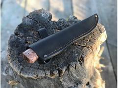 Нож Лиса (К340, рукоять стабилизированная карельская береза)