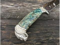 Нож Бухарский(сталь ELMAX,  рукоять стабилизированная карельская береза)