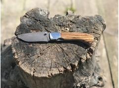 Складной нож Енот (сталь  дамаск, зебрано)