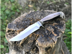 Нож Бухарский (сталь S390, рукоять стабилизированное дерево, акрил)