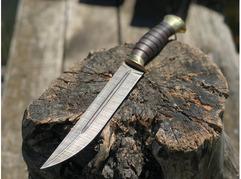 Нож Пластун (дамаск, рукоять граб)