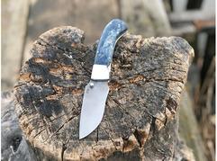 Складной нож Енот (сталь  S390, стабилизированная карельская береза)