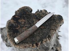 Нож Норвежский  ( сталь ELMAX, рукоять стабилизированный ясень)