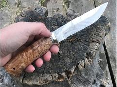 Нож Лиса ( сталь Х12МФ, рукоять стабилизированная карельская береза)