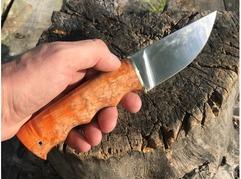 Нож Егерь (сталь Элмакс, рукоять стабилизированная карельская береза)