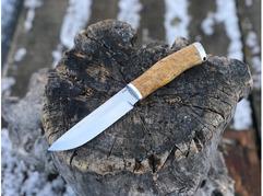 Нож Норвежский  ( К340, рукоять стабилизированная карельская береза)