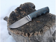 Нож Егерь (сталь М390, рукоять стабилизированная карельская береза)
