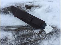 Нож Егерь (сталь ХВ5, рукоять стабилизированная карельская береза)