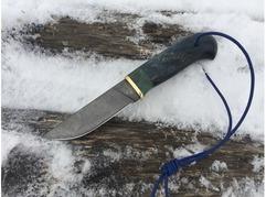 Нож Егерь (Х12МФ, рукоять стабилизированная карельская береза)