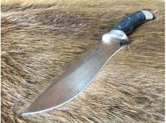 Нож Гепард  (D2, рукоять стабилизированная карельская береза )