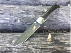 Складной нож Бобр (сталь  дамаск, граб)