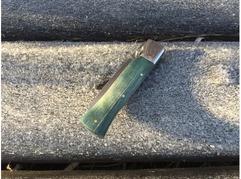 Складной нож Витязь (сталь S390, стабилизированная карельская береза)