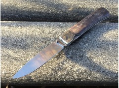 Складной нож Бобр (сталь Elmax, стабилизированная карельская береза)