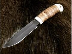 Нож Лиса (сталь Х12МФ, рукоять кость, береста)