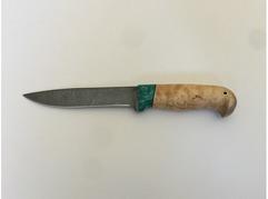 Нож Витязь  (дамаск, рукоять карельская береза)