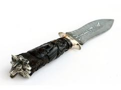 Нож Ведьмак (дамаск, рукоять черное дерево, мельхиор)
