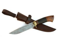 Нож Лиса (дамаск, кожа, венге)