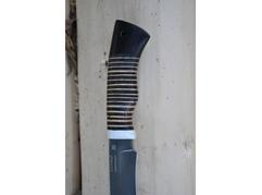 Нож Гепард (сталь Х12МФ, рукоять кость, береста, кожа, граб)