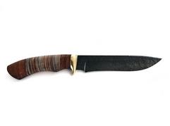 Нож Гепард (дамаск, рукоять кожа, венге)